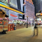 Light painting sur Times Square, New York City