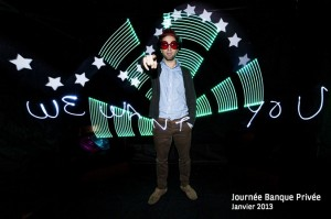 exemple d animation light painting. Les Lucioles imagera