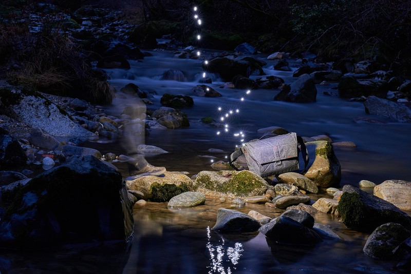 The everyday messenger bag by Peakdesign and light painting by Christopher Hibbert