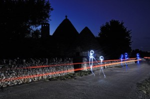 Alberobello, light painting